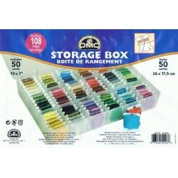 Кутия(Oрганайзер)  DMC 108 места+50 картона