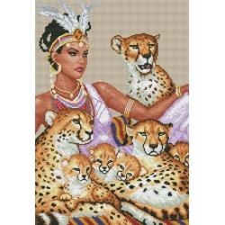 Девойка с леопарди
