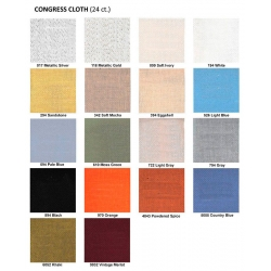 Congress Cloth 24 Ct 127 cm 18 col