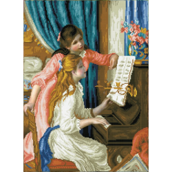Момиче на пиано (Реноар)
