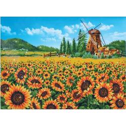 Слънчогледи и вятърна мелница